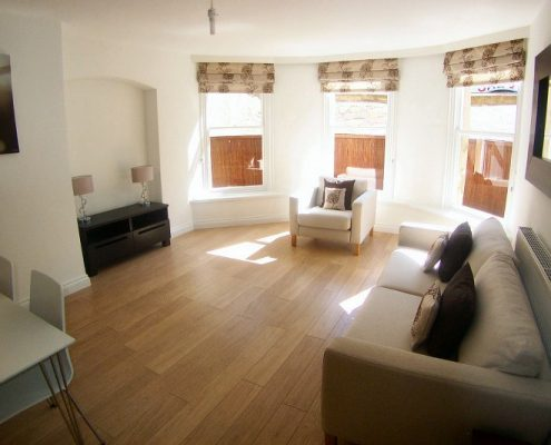 Modern bright lounge in 1 bed flat Clifton